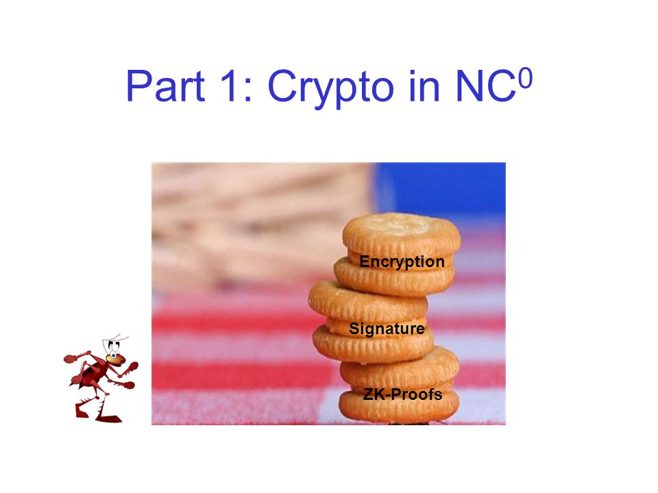 Part 1: Crypto in NC 0 ZK-Proofs Signature Encryption