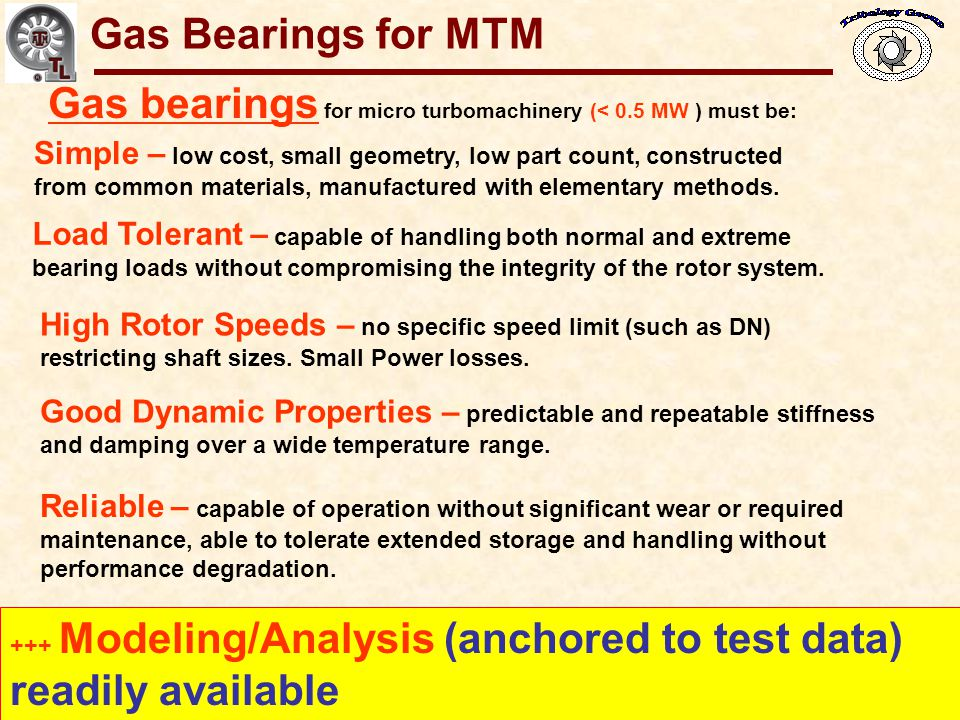 Gas Bearings for Oil-Free Turbomachinery Rotor speed decreases Excitation of rotor natural frequency.