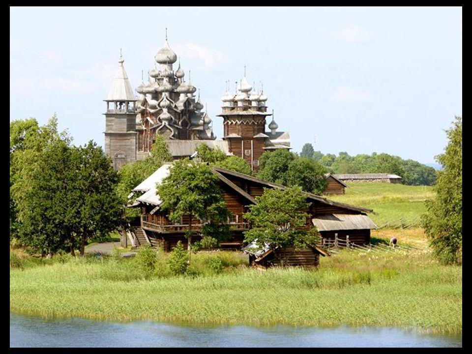 Church of Transformation on Kazhi Island Lake Onega