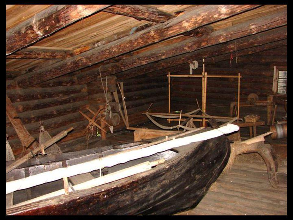 Sleds, Tools and Boats were kept inside during the winter