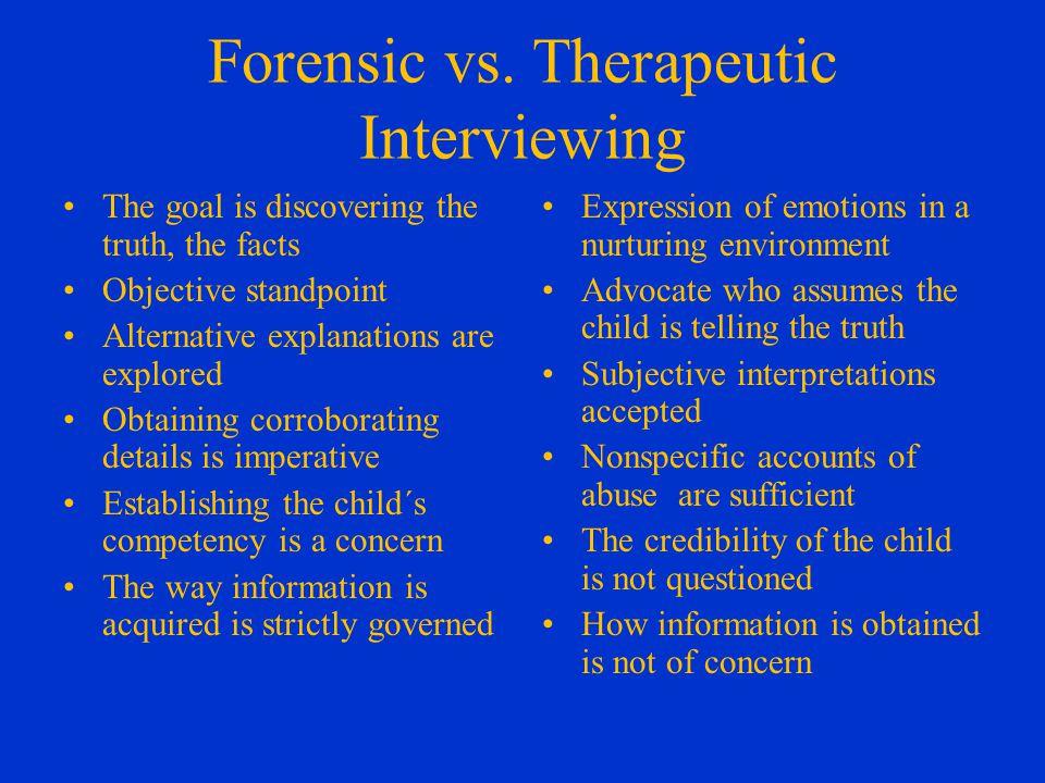 Forensic vs.