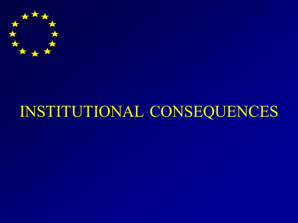 INSTITUTIONAL CONSEQUENCES