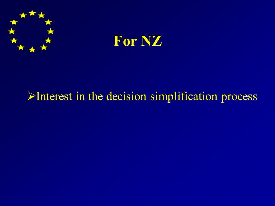 For NZ Interest in the decision simplification process