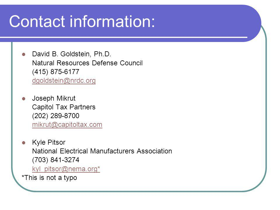 Contact information: David B. Goldstein, Ph.D.