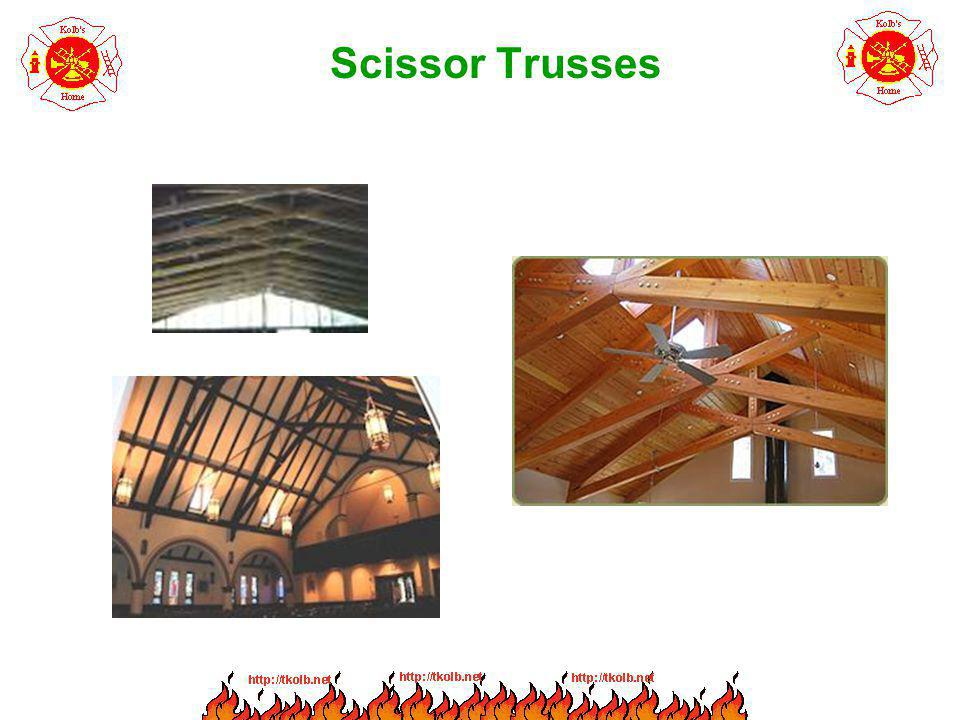 Parallel Chord Trusses Provide a flat roof or floor.