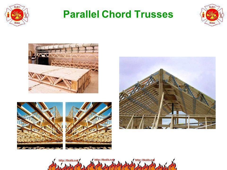 Light Timber Trusses in Fire Conditions Loose or lost gusset plates can lead to tensile forces pulling the truss apart.