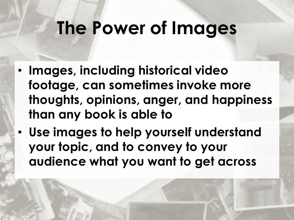 Media in Powerpoint If creating a Powerpoint, you have the ability to add pictures, video, and sound to your slides Jeannine Burk – Child Survivor Resource: The Southern Institute for Education and ResearchThe Southern Institute for Education and Research Manny Mandel – Child Survivor Resource: podcast from the United States Holocaust Memorial Museum, First Person Podcast SeriesUnited States Holocaust Memorial Museum, First Person Podcast Series