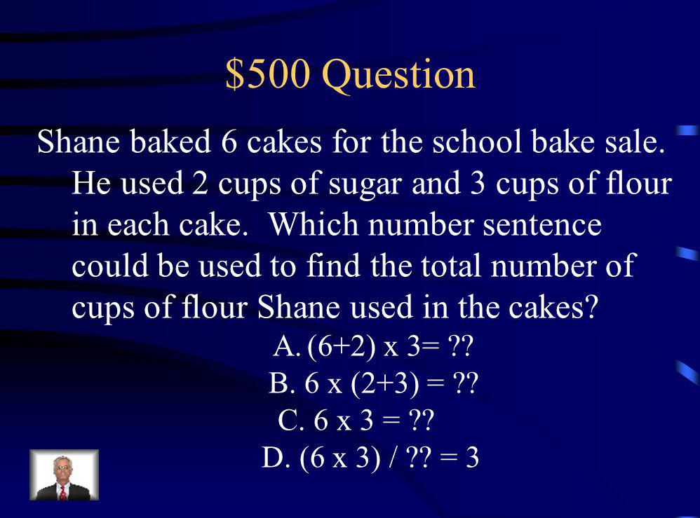 $400 Answer C. 1, 2, 3, 8, 16