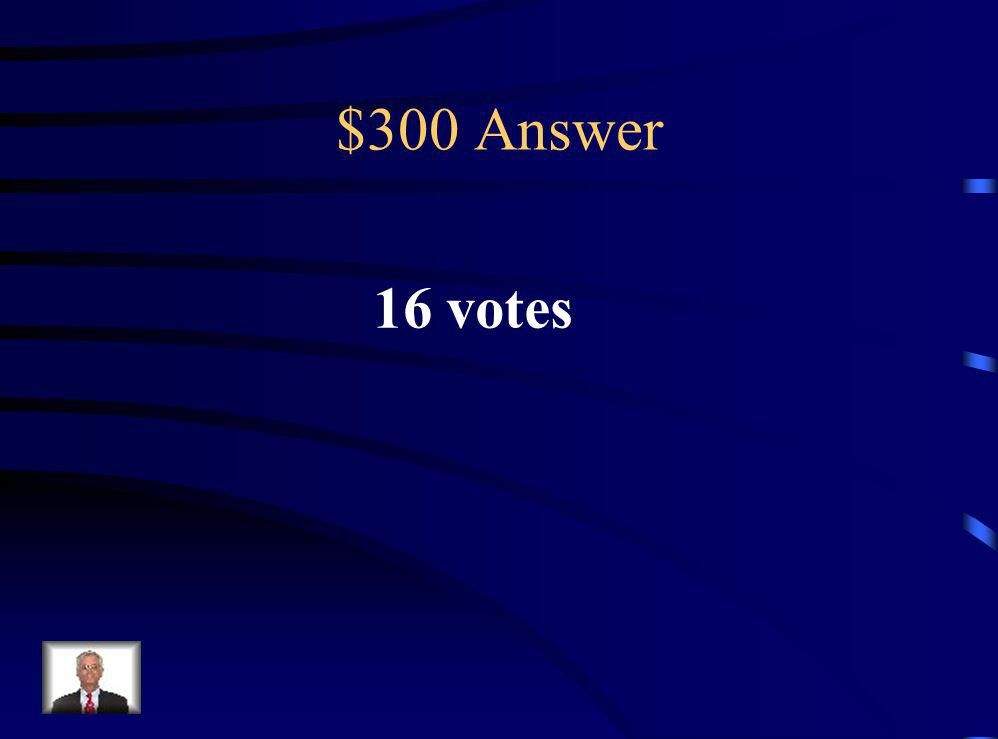 $300 Question The fifth grade is holding an election for a student council representative.