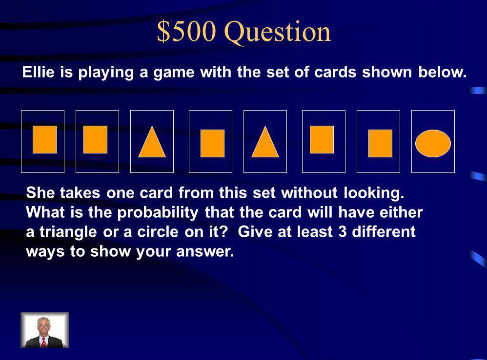 $400 Answer Chart B