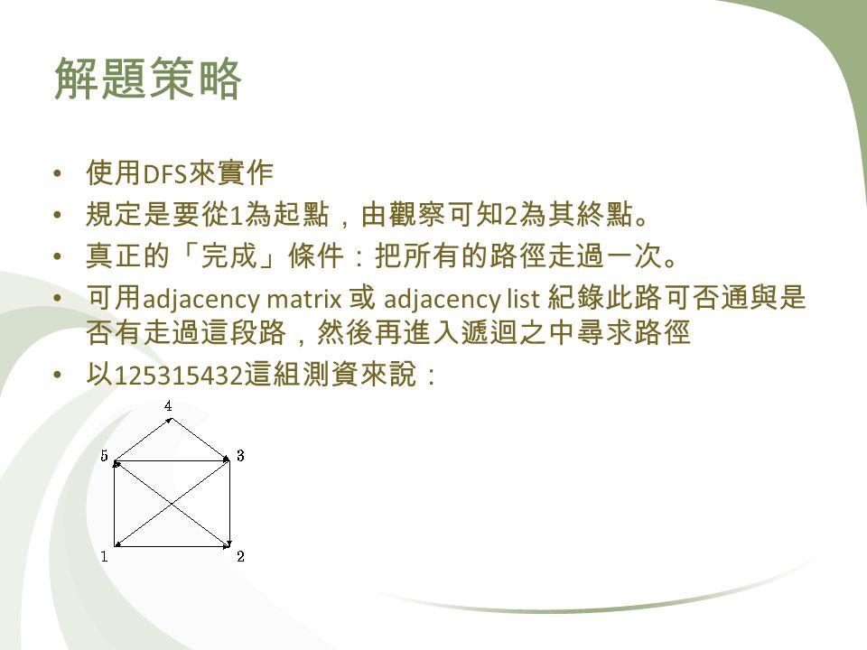 DFS 1 2 adjacency matrix adjacency list 125315432