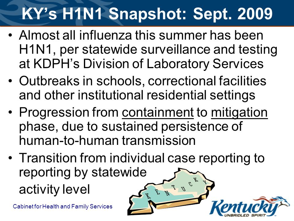 Cabinet for Health and Family Services KYs H1N1 Snapshot: Sept.