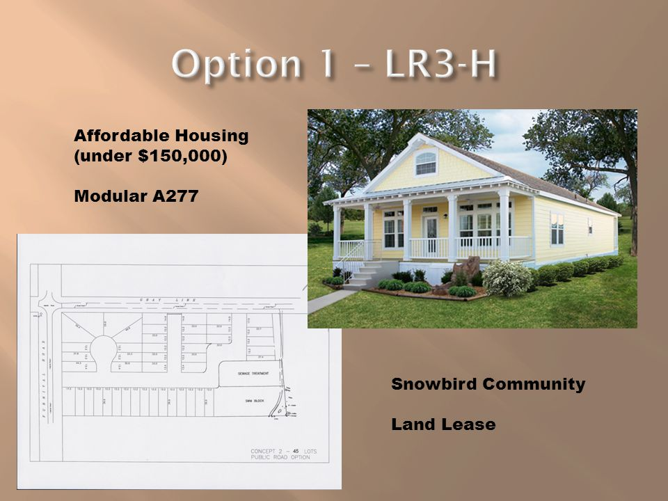 Affordable Housing (under $150,000) Modular A277 Snowbird Community Land Lease