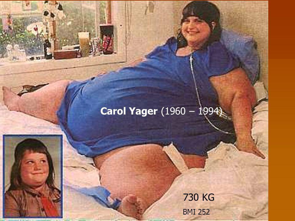 730 KG BMI 252 Carol Yager (1960 – 1994)