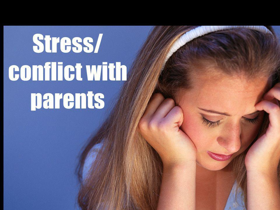 Stress/ conflict with parents