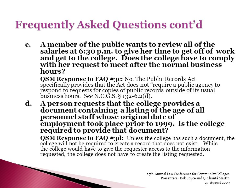 c.A member of the public wants to review all of the salaries at 6:30 p.m.