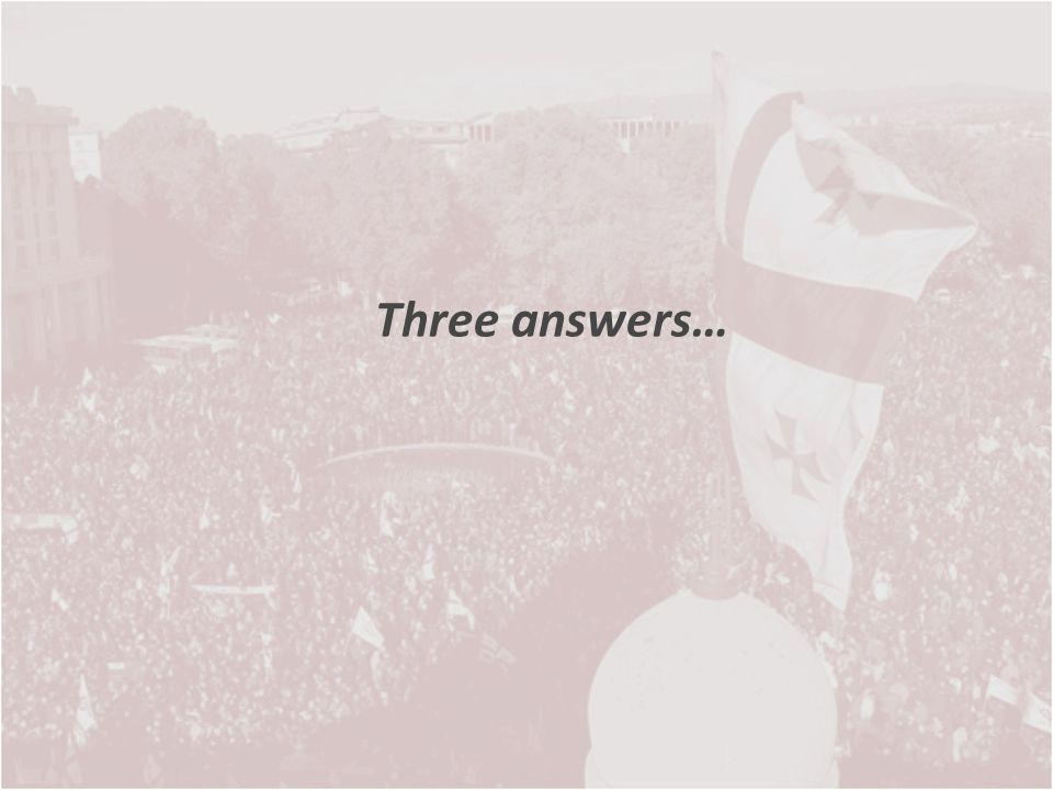 Three answers…