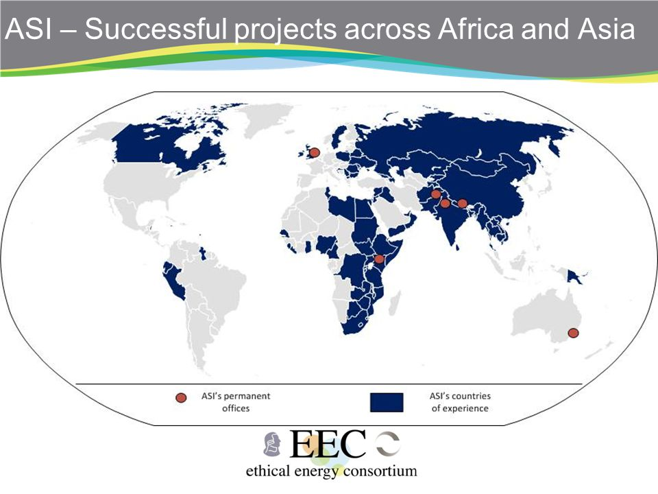 ASI – Successful projects across Africa and Asia