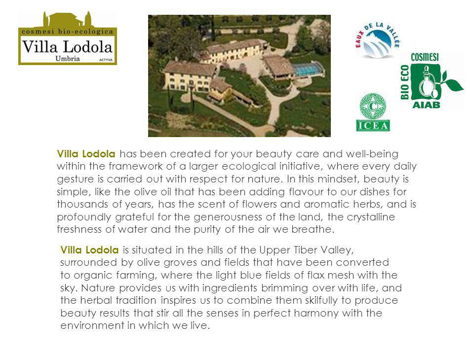Villa Lodola has been created for your beauty care and well-being within the framework of a larger ecological initiative, where every daily gesture is
