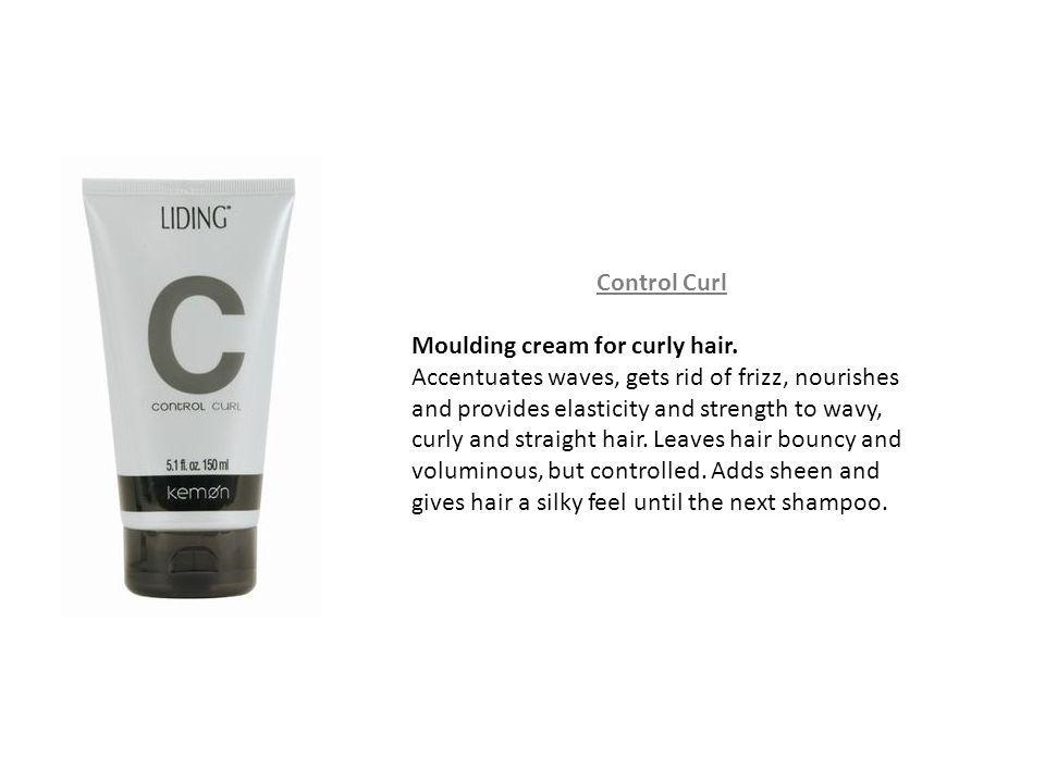 Control Curl Moulding cream for curly hair. Accentuates waves, gets rid of frizz, nourishes and provides elasticity and strength to wavy, curly and st