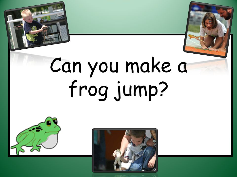 Can you make a frog jump?