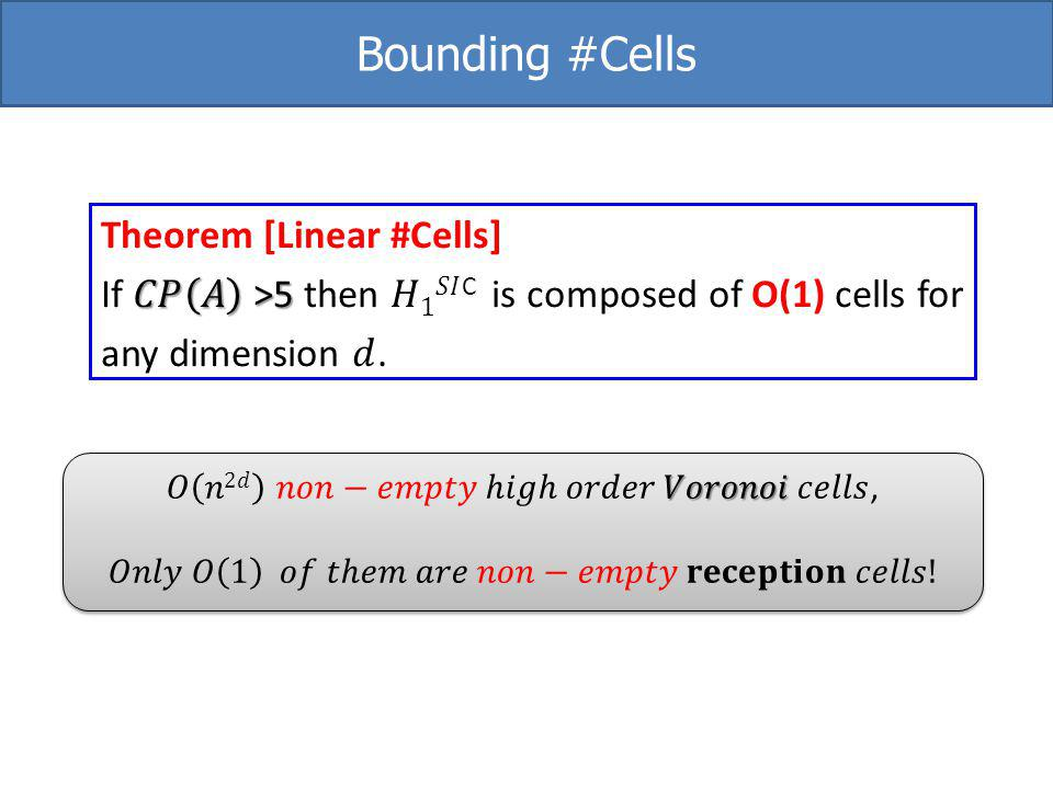 Bounding #Cells