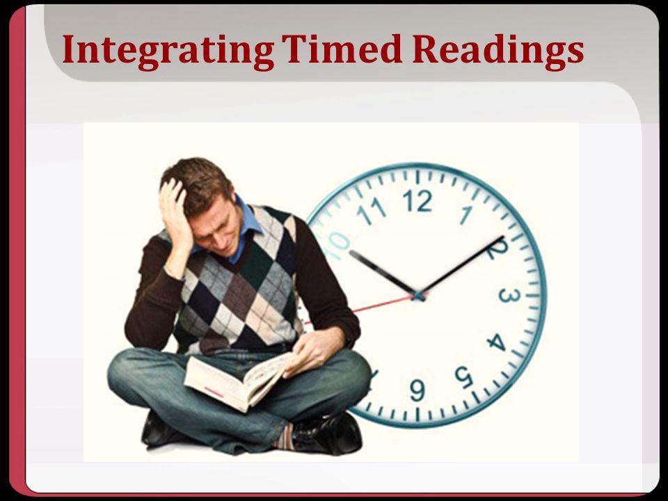 Integrating Timed Readings