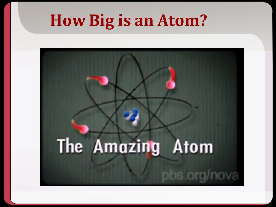 How Big is an Atom?