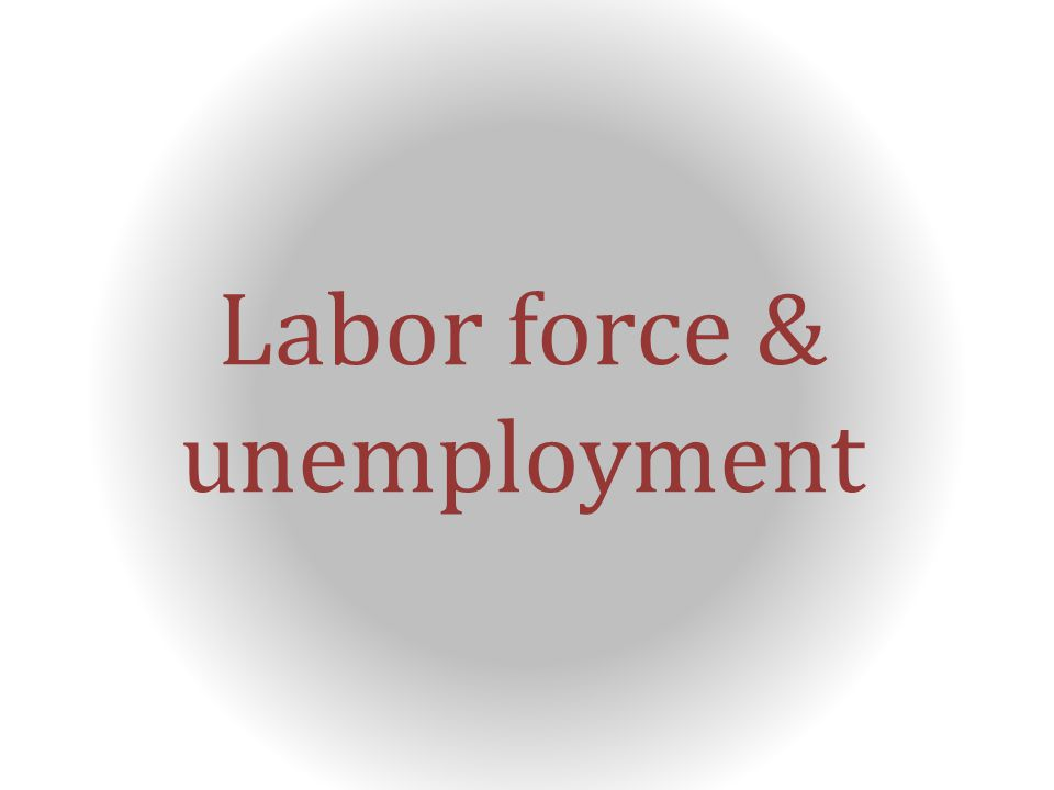 Labor force & unemployment