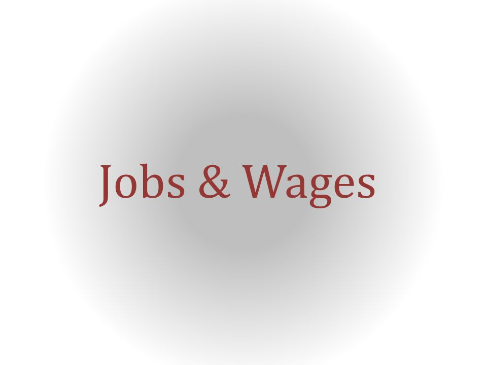 Jobs & Wages