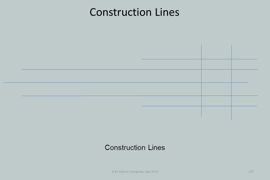 © Dr Kelvyn Youngman, Sep 2013257 Construction Lines
