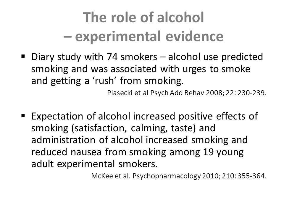 New smoking behaviours – challenges for tobacco control Health education and cessation messages may be ignored by social smokers who do not identify as smokers Young adults may respond to different smokefree messaging (and media) New interventions needed in settings where smoking occurs: college, workplace, bars etc Establishing new social norms about unacceptability of offering cigarettes to new smokers and quitters Interventions may be undermined by alcohol and co- intervention may be required