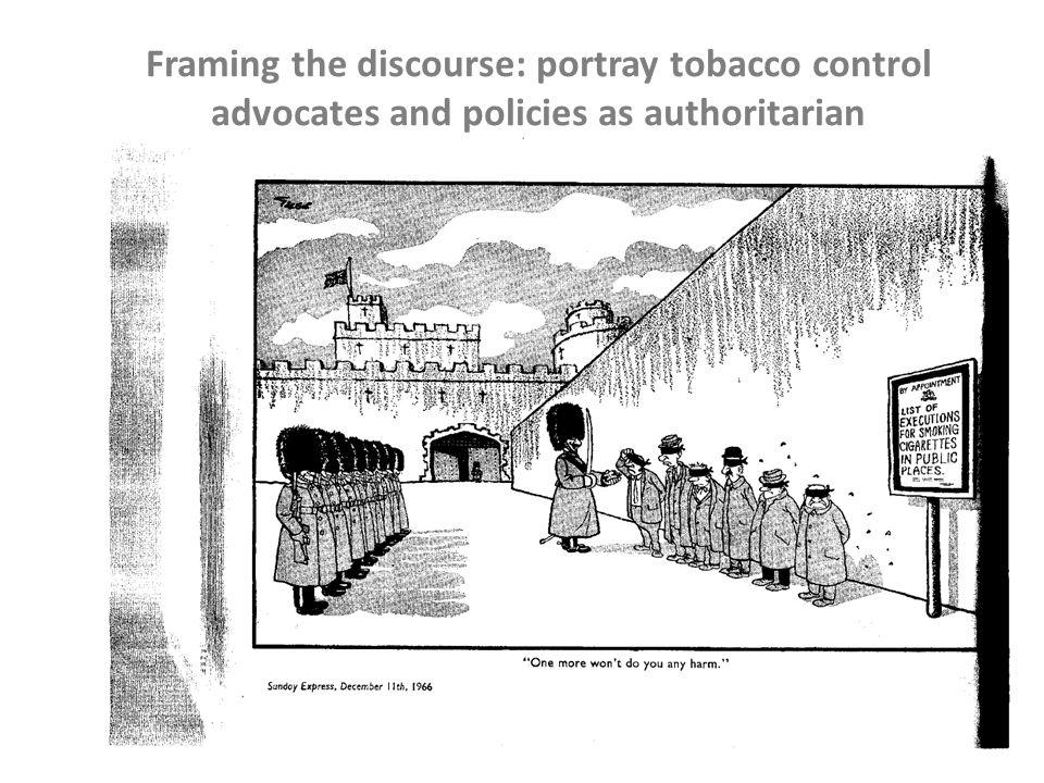 Framing the discourse: portray tobacco control advocates and policies as authoritarian