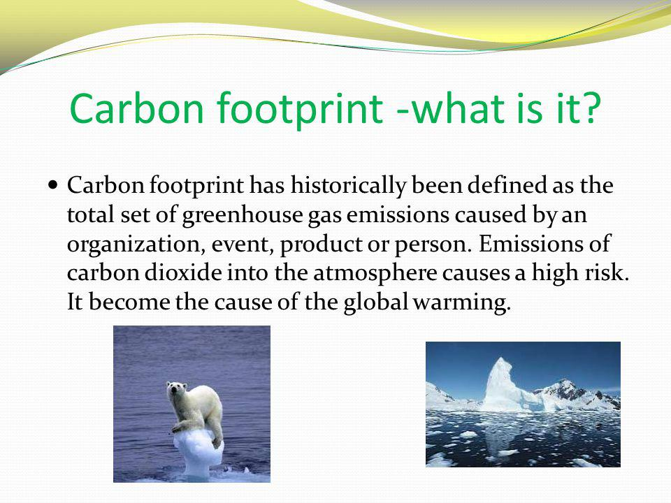Carbon footprint -what is it.