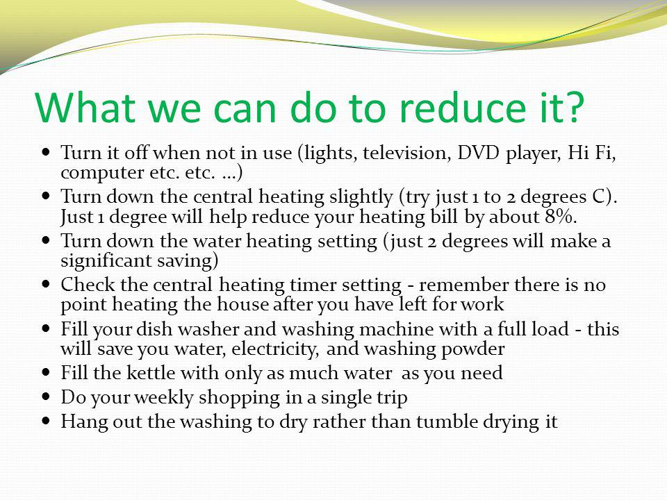 What we can do to reduce it.