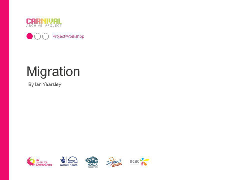 Migration By Ian Yearsley Project/Workshop