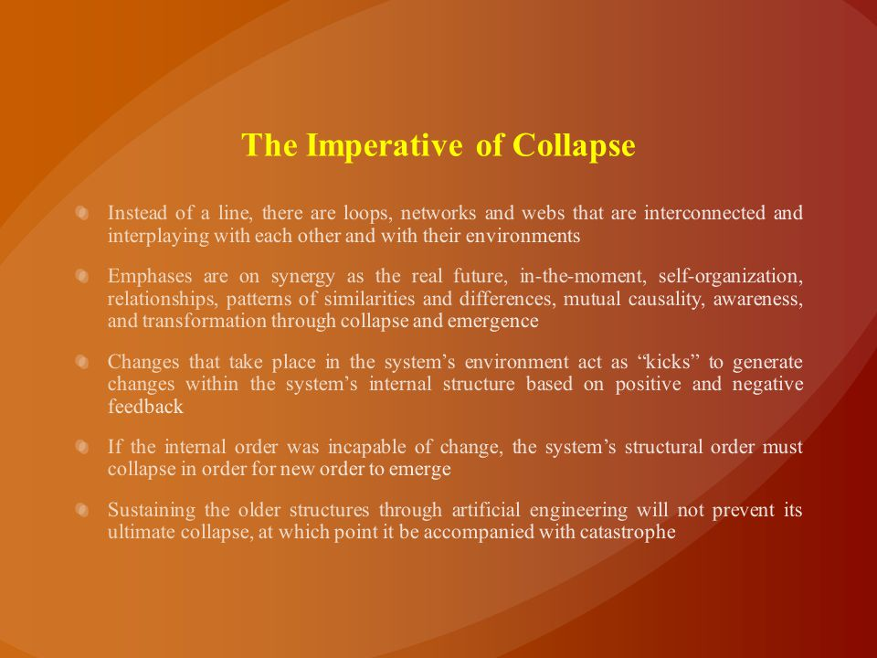 The Imperative of Collapse