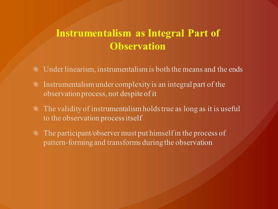 Instrumentalism as Integral Part of Observation