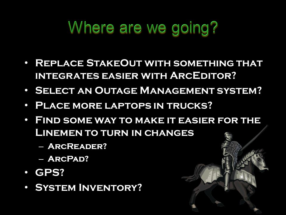 Replace StakeOut with something that integrates easier with ArcEditor.