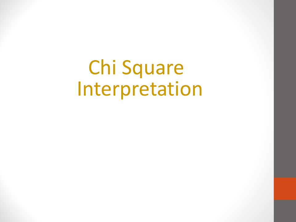Chi Square Interpretation