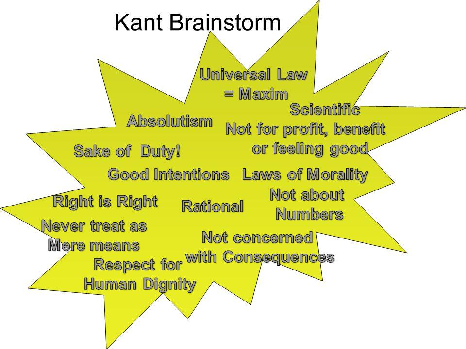 Kant Brainstorm