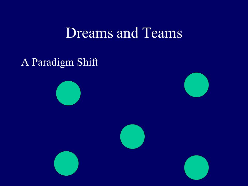 Dreams and Teams A Paradigm Shift