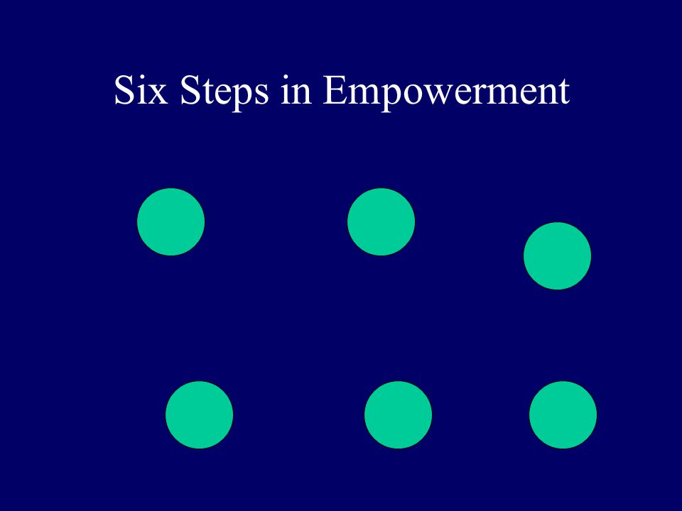 Six Steps in Empowerment