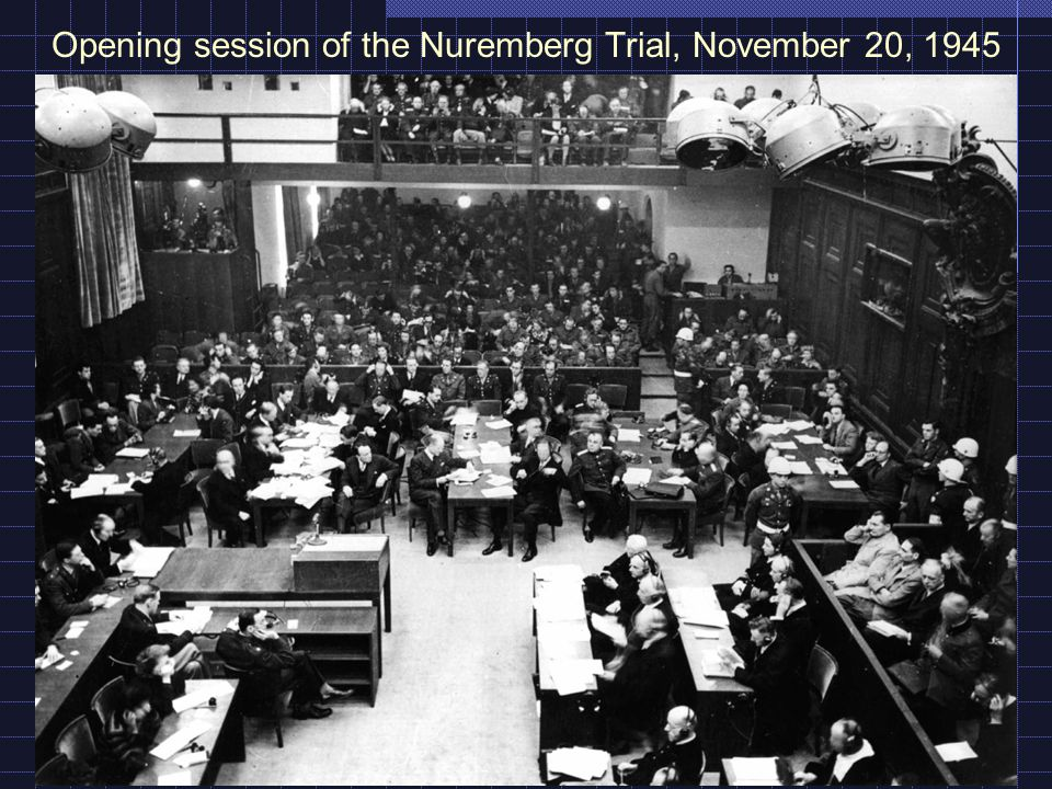 Opening session of the Nuremberg Trial, November 20, 1945