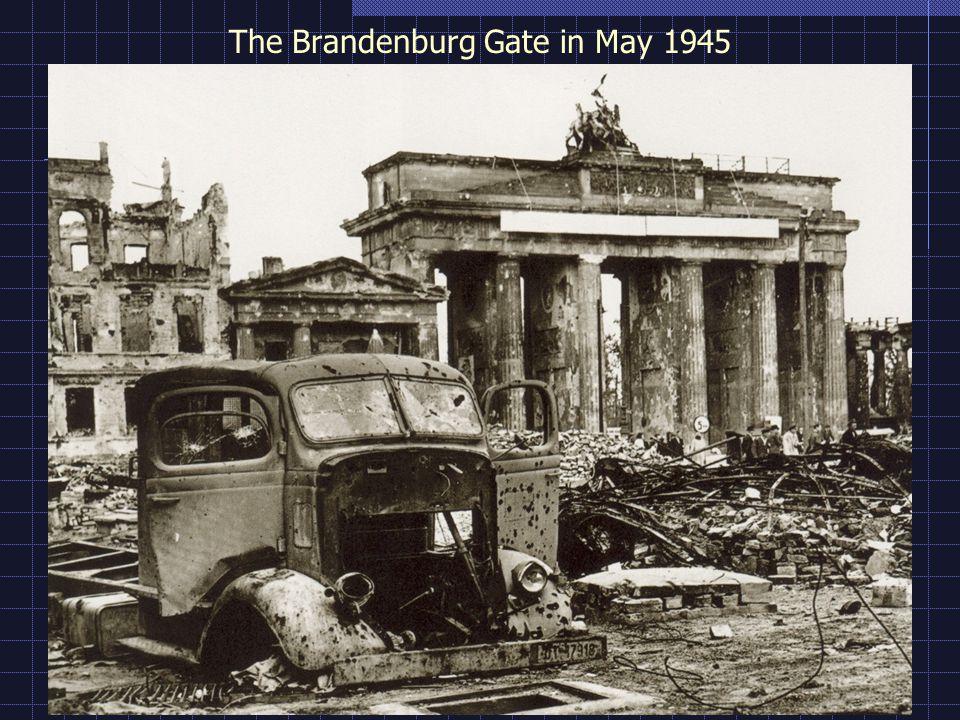 The Brandenburg Gate in May 1945