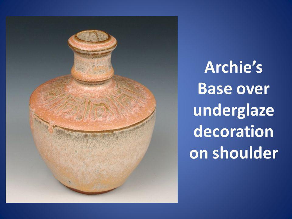Archies Base over underglaze decoration on shoulder