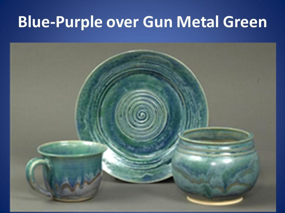 Blue-Purple over Gun Metal Green