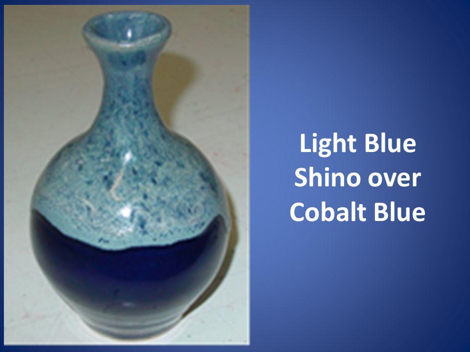 Light Blue Shino over Cobalt Blue