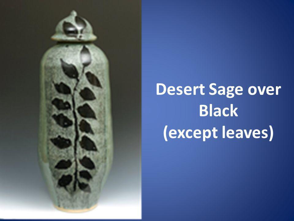 Desert Sage over Black (except leaves)