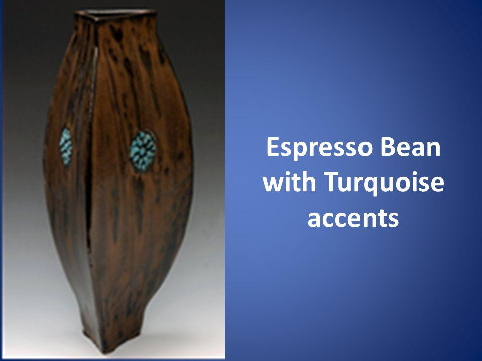 Espresso Bean with Turquoise accents